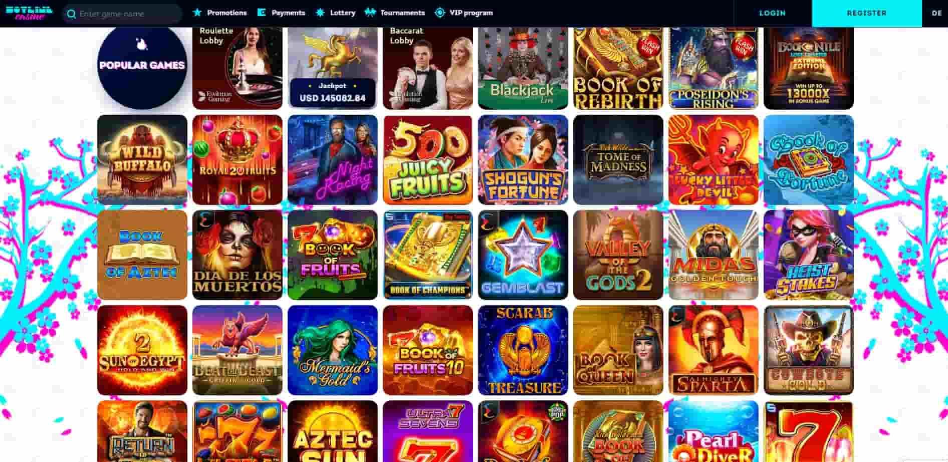 Hotline Casino popular games-min