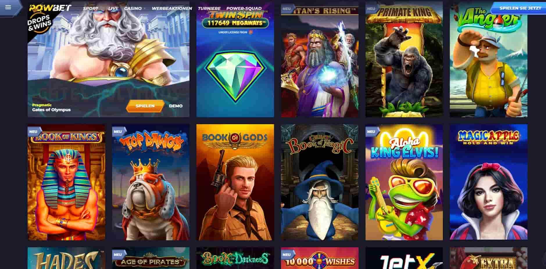 Powbet top games-min